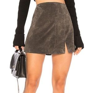 Blank NYC French Ultra Suede /Leather Skirt! 💥